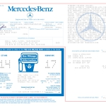 1986 Mercedes Benz 560SL Window Sticker