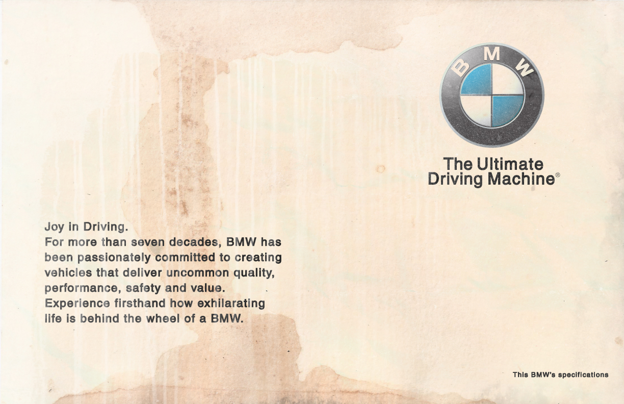 MOTIF Reverse Side Aging Process on a BMW Window Sticker