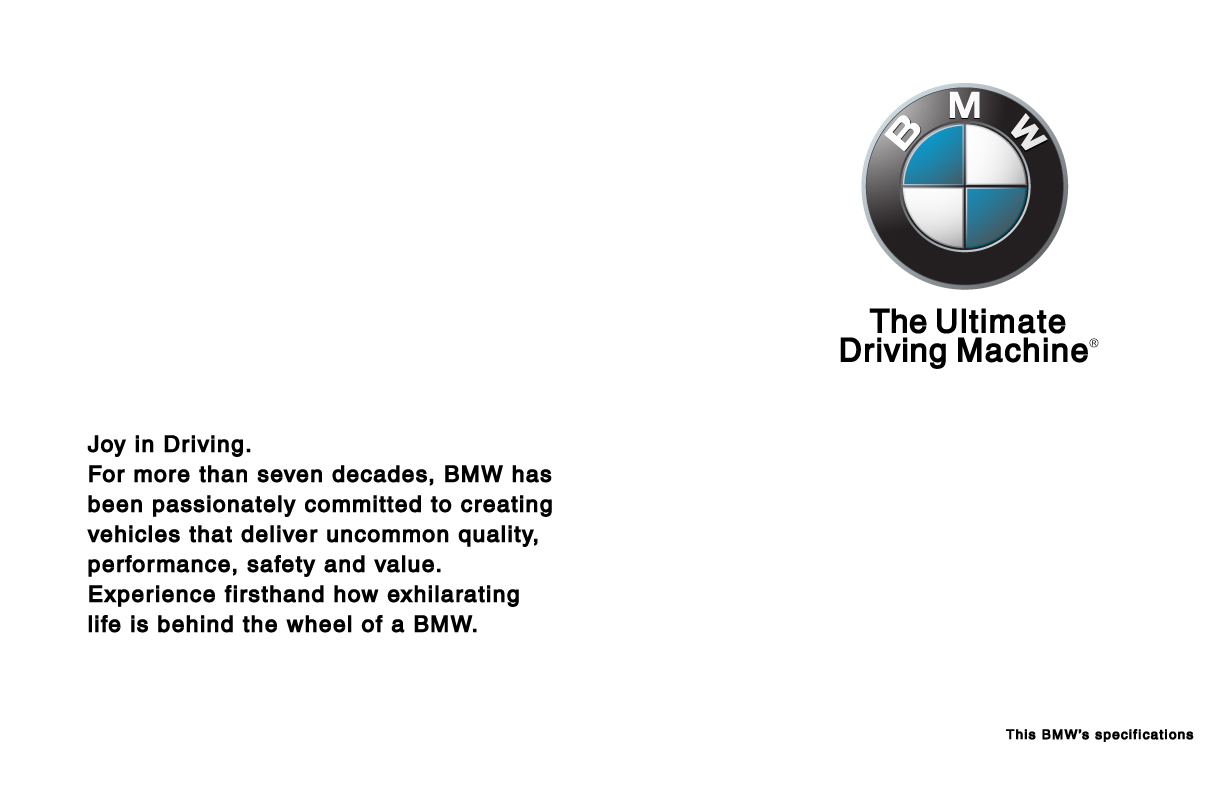 Reverse Side of an early 2000s BMW Window Sticker